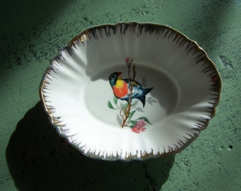 Pretty Vintage English Little Bowl with Bird