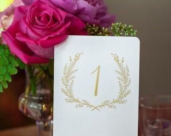 Sweet Vintage Wedding Table Number Signs 1-30 - Matte Gold
