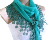 turkish scarf, Necklace scarves, Traditional Turkish-style, Headband, scarf, Dark turquoise, fashion 2014, Mothers day