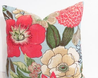 SALE!!! Floral Decorative Pillow Cover Handmade in the USA