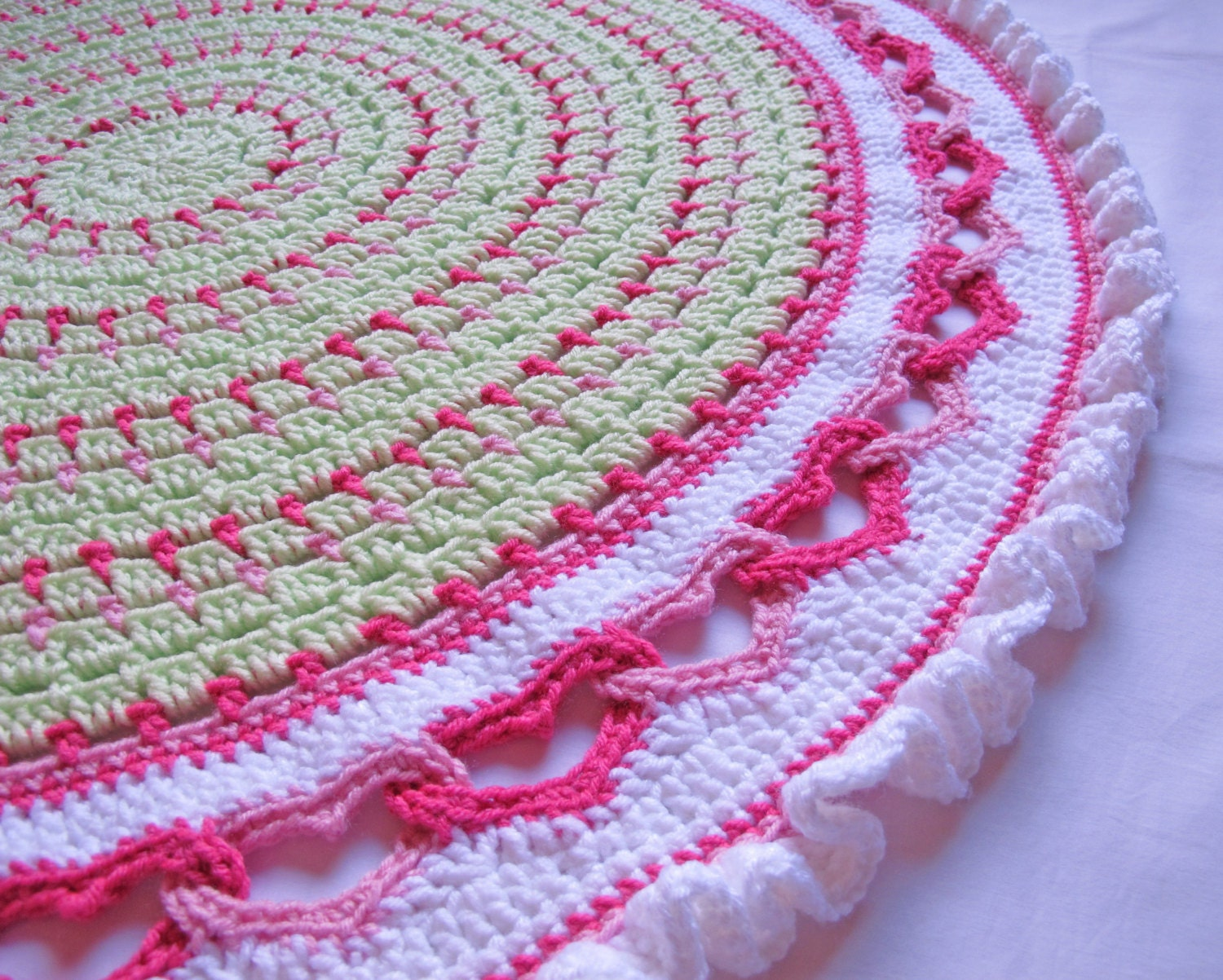 CROCHET PATTERN Baby Love a baby blanket pattern by TheHatandI