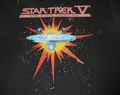 Vintage 80s STAR TREK V 5 The Final Frontier Promo T-Shirt 50/50 Spring Ford Tag Spock Captain Kirk Klingon M/L