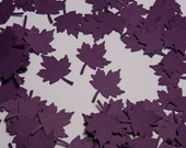 100 Purple Maple Leaves Die Cuts Paper Punches Embellishments Confetti