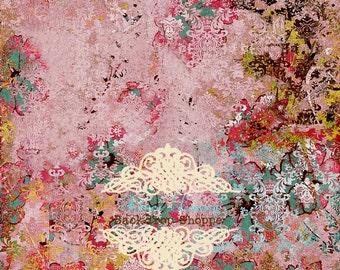 CUSTOMER FAVORITE 8ft x 8ft foot Vinyl Photography Backdrop Sweet Antique Grunge Damask