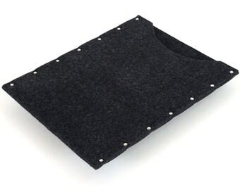 MacBook 13 Pro sleeve cover rivets case black industrial felt handmade by SleeWay
