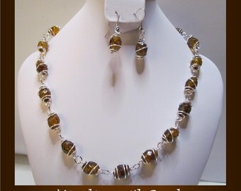 Caged Beaded necklace set