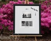Wedding Guest Book Date Art Frame - Signature Wedding Guest Book Decoration, Black Frame, Use your own photo after the wedding