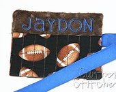 Personalized Crayon Holder Football Crayon Roll Great for Gifts Flower Girl Ring Bearer Stocking Stuffer