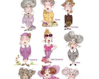 Grannies Embroidery Design Collection - CD