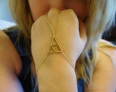 The Legend of Zelda Intricate Wire Wrapped Triforce Inspired Bracelet