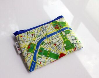 PARIS map coin purse, wallet, women wallets, mens wallet - Paris Map Wallet, gift for him, for her, for travellers, souvenir from France