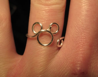 Wire Wrapped Mickey Mouse MADE to ORDER Ring