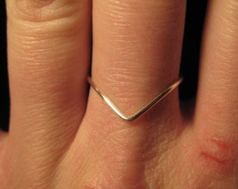 Wire Wrapped Chevron MADE to ORDER Knuckle or Regular Size Ring