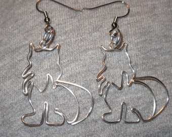 Wire Wrapped Siberian Or Other Cat MADE to ORDER Earrings