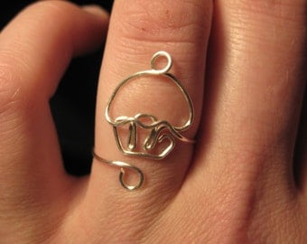 Wire Wrapped Mini Cupcake Adjustable Ring MADE to ORDER