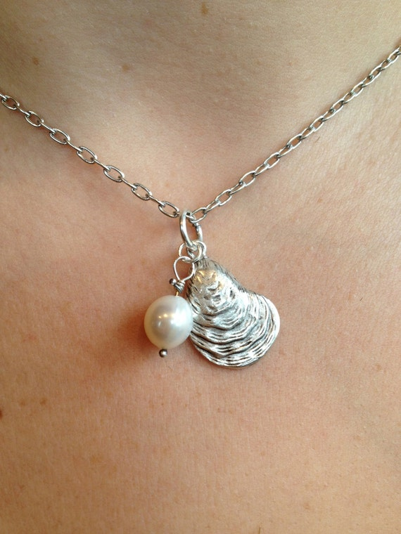 You are the Pearl in my Oyster Silver Necklace