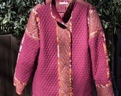 Chico's Style Quilted Women's Coat in Burgundy, size XL. . Free Shipping