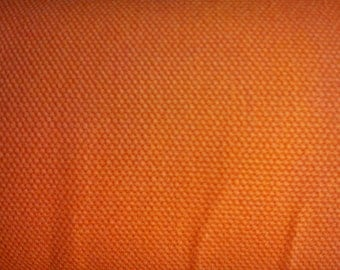 Orange, wide, medium weighted canvas, thick, fat quarter, pure cotton fabric