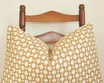 Betwixt Pillow Cover, Designer Fabric, Decorative Pillow, Throw Pillow, Lumbar Pillow, Celerie Kemble, Schumacher Betwixt, Biscuit Ivory