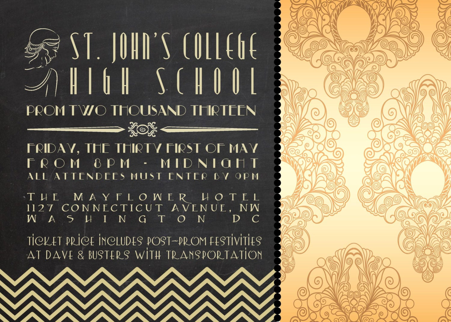 Great Gatsby Invitation Wording Best Custom Invitation Template