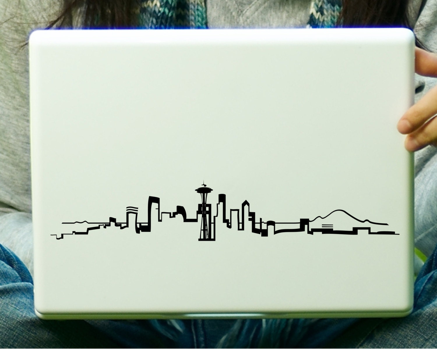 Seattle Skyline Outline Drawing Seattle Skyline Sticker Decal