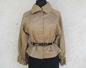 SALE Peplum Jacket . CROPPED Ruffle Waist Coat XS, S