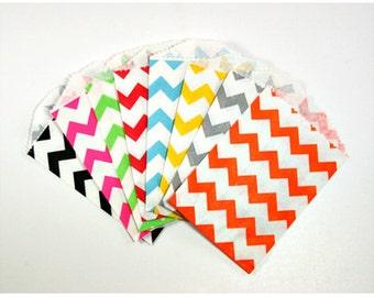 Colorful Chevron Print Mini Treat Bags