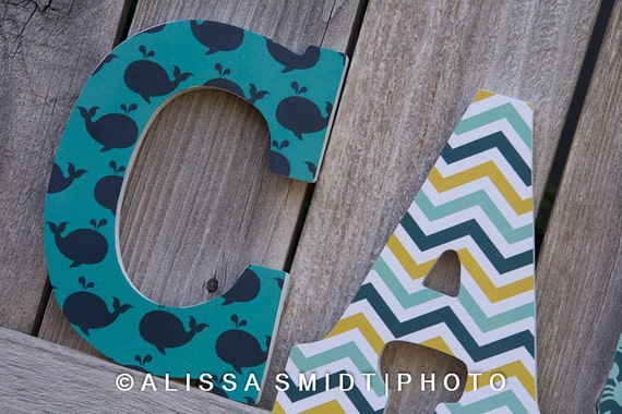 Custom Nursery Wooden Letters Baby Boy Or Baby Girl Nursery