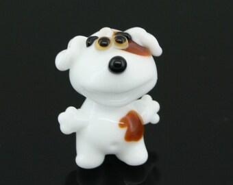 Funny Lampwork Dog Bead
