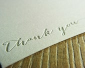 Thank You Notecards - Letterpress - Boxed Set of 10