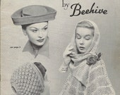 Vintage Hats and Scarves by Beehive Series No. 74 1940s