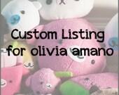 Custom Listing for Olivia Amano