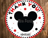 NEW - Mickey Mouse Favor tags