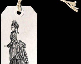 Victorian women dress, vintage style women fashion  -  Digital Image Download Sheet, Transfer To Pillows ,Burlap Bag, or Print on paper 003