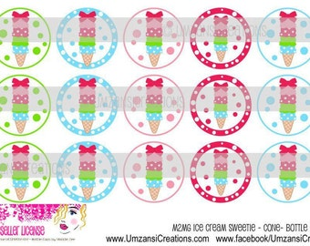 "15 M2MG Ice Cream Sweetie  Digital Download for 1"" Bottle Caps (4x6)"