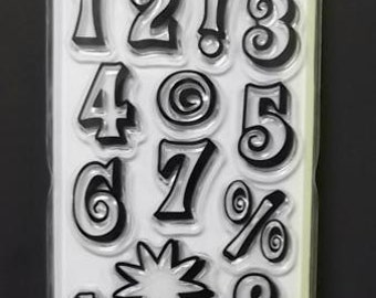 MOD NUMBERS Clear Stamps by Inkadinkado