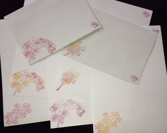 Spring blossom letter/writing set