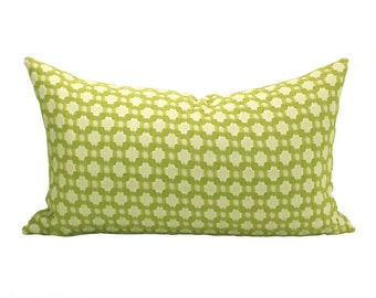 Betwixt lumbar pillow cover in Chartreuse/Ivory