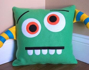 Green Monster/Silly Face Pillow