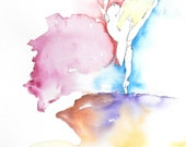 Ballet Dancer Watercolor, Dancer Art, Dance Watercolor, Ballerina Art, Ballerina Painting