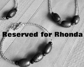 RESERVED FOR RHONDA - Custom Listing - Lava Rock Necklace, Bracelet, Anklet, and earrings