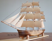 Hand Carved, Hand Made Clipper Ship Model Sailing Ship