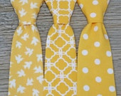 Yellow Tie for Boys  -- Yellow Neck Tie -- Yellow Ring bearer Tie -- Yellow Wedding -- Yellow Groomsmen Tie