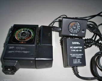 Sunpak Auto 411 Thyristor Flash Unit with Remote Sensor and AC Adaptor