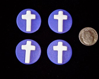 Mini Cross Edible Fondant Toppers Great for mini cupcakes, cakes, cake pops and cookies for Weddings, Christenings, Easter and even Xmas
