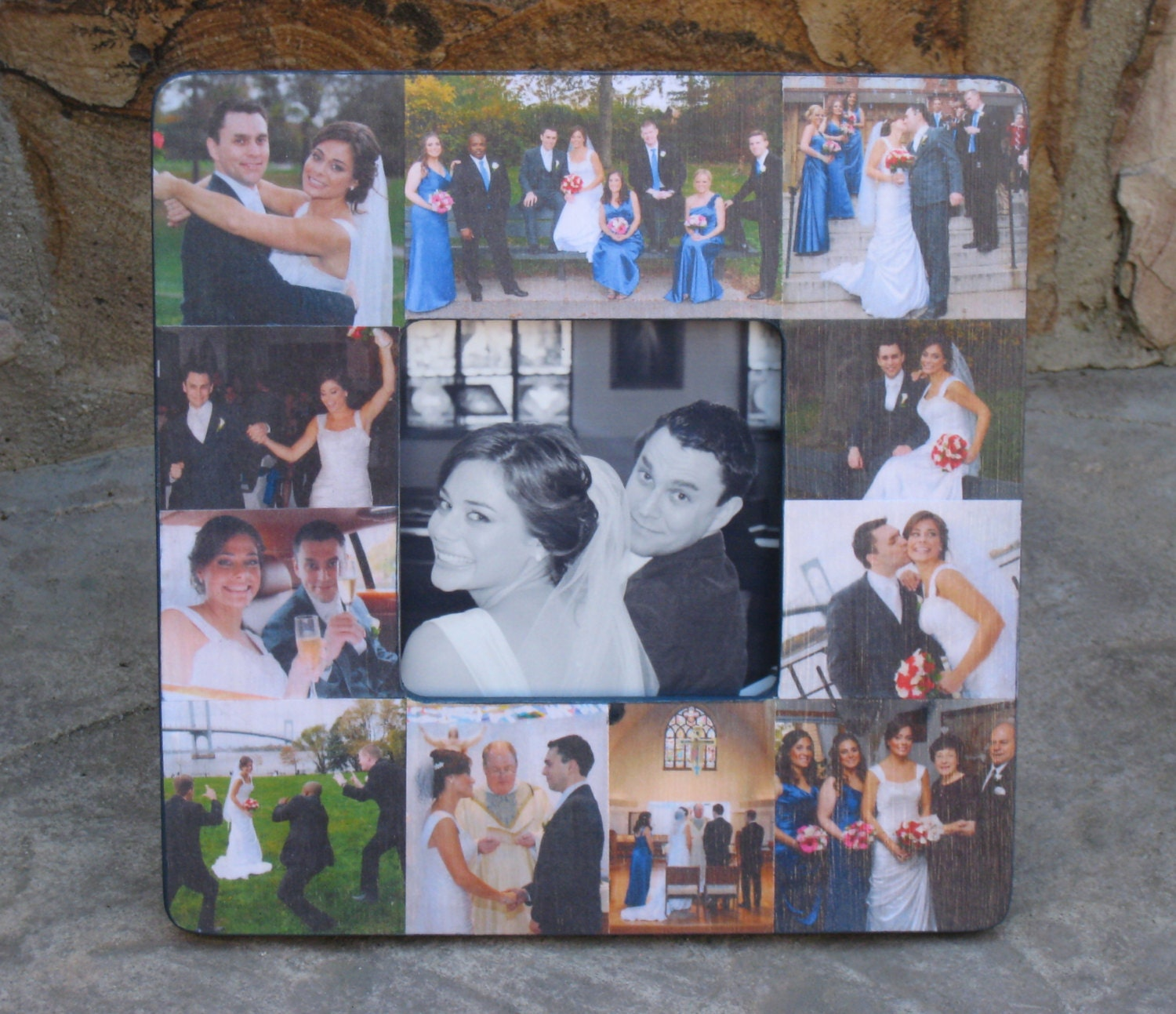 Customized Wedding Picture Frames : Personalized Wedding Picture Frame Custom Collage Picture