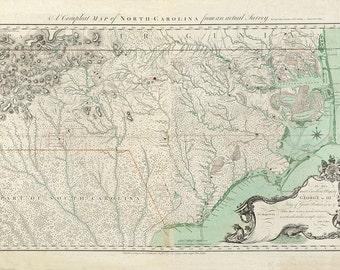 1770 Map of North Carolina