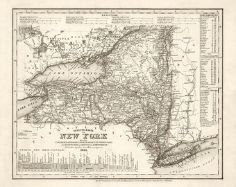 1844 Map of New York State