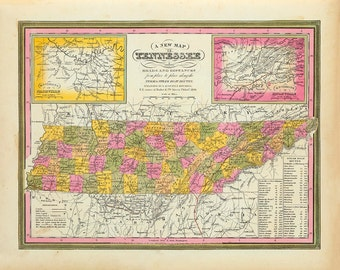 1846 Map of Tennessee