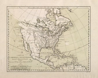 1743 Map of North America